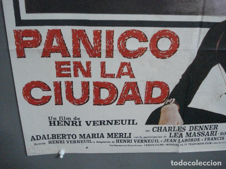 Cine: CDO 3725 PANICO EN LA CIUDAD JEAN-PAUL BELMONDO POSTER ORIGINAL 70X100 ESTRENO - Foto 5 - 210225585