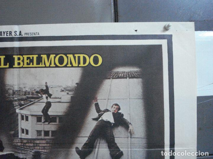 Cine: CDO 3725 PANICO EN LA CIUDAD JEAN-PAUL BELMONDO POSTER ORIGINAL 70X100 ESTRENO - Foto 6 - 210225585