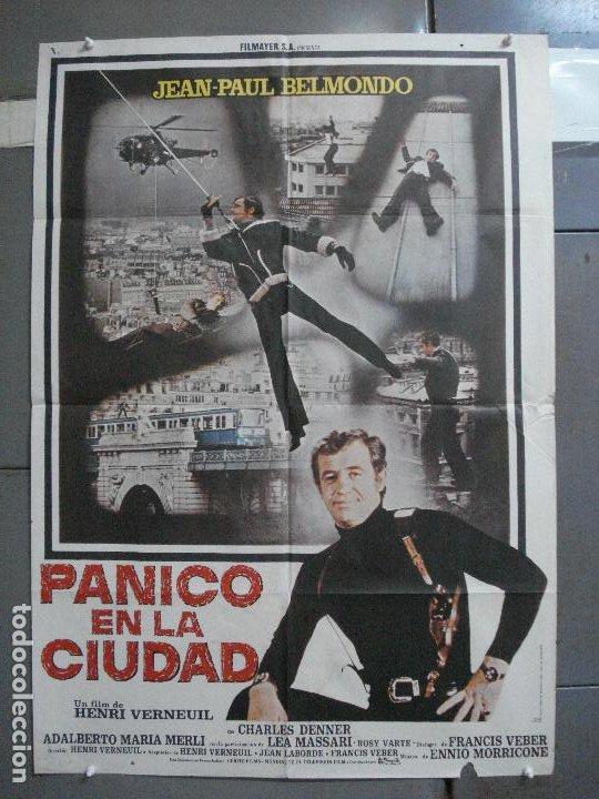 CDO 3725 PANICO EN LA CIUDAD JEAN-PAUL BELMONDO POSTER ORIGINAL 70X100 ESTRENO (Cine - Posters y Carteles - Acción)