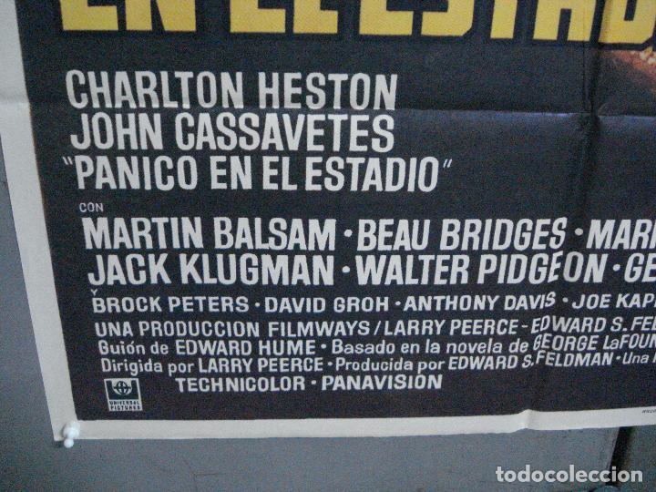 Cine: CDO 3726 PANICO EN EL ESTADIO CHARLTON HESTON JOHN CASSAVETES MAC POSTER ORIGINAL ESTRENO 70X100 - Foto 5 - 210226095