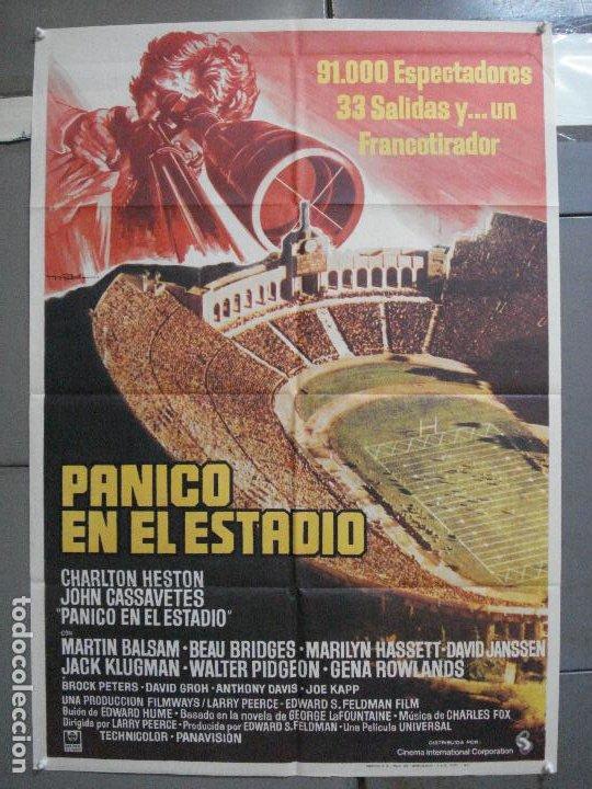 CDO 3726 PANICO EN EL ESTADIO CHARLTON HESTON JOHN CASSAVETES MAC POSTER ORIGINAL ESTRENO 70X100 (Cine - Posters y Carteles - Suspense)