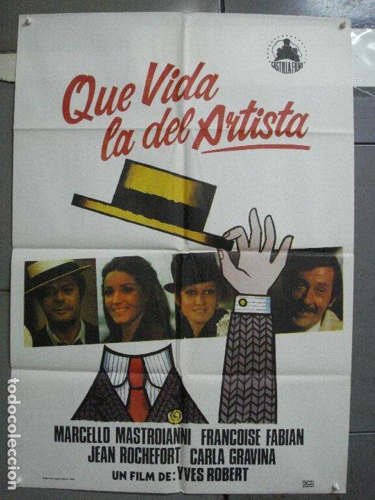 CDO 3727 QUE VIDA LA DEL ARTISTA MARCELLO MASTROIANNI JEAN ROCHEFORT POSTER ORIGINAL ESTRENO 70X100 (Cine - Posters y Carteles - Comedia)