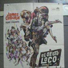 Cine: CDO 3728 EL OESTE LOCO JAMES COBURN POSTER ORIGINAL 70X100 ESTRENO. Lote 210226951