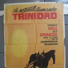Cine: CDO 3729 LE SEGUIAN LLAMANDO TRINIDAD TERENCE HILL BUD SPENCER SPAGHTTI POSTER ORIG 70X100 ESTRENO. Lote 210231410