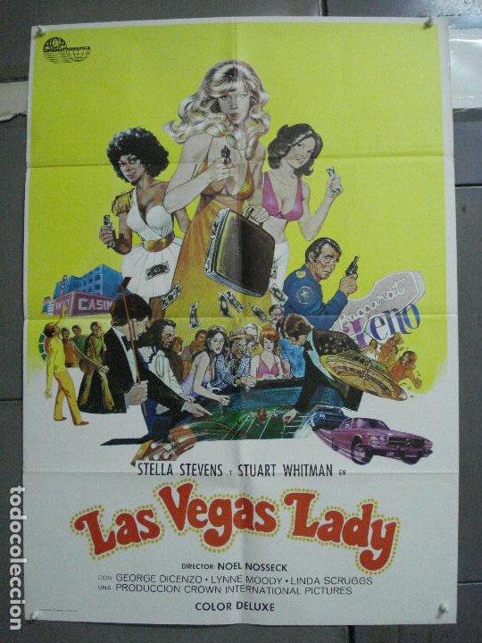 CDO 3730 LAS VEGAS LADY STELLA STEVENS STUART WHITMAN POSTER ORIGINAL 70X100 ESTRENO (Cine - Posters y Carteles - Acción)