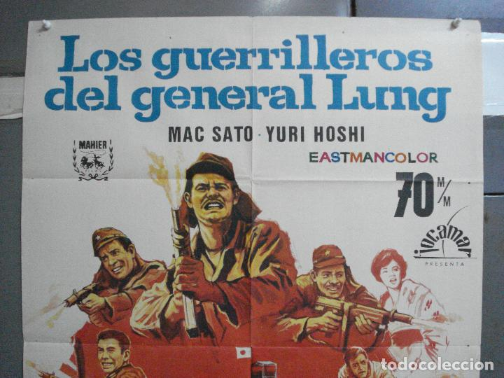 Cine: CDO 3731 LOS GUERRILLEROS DEL GENERAL LUNG TOHO CINE JAPONES POSTER ORIGINAL 70X100 ESTRENO - Foto 2 - 210231975