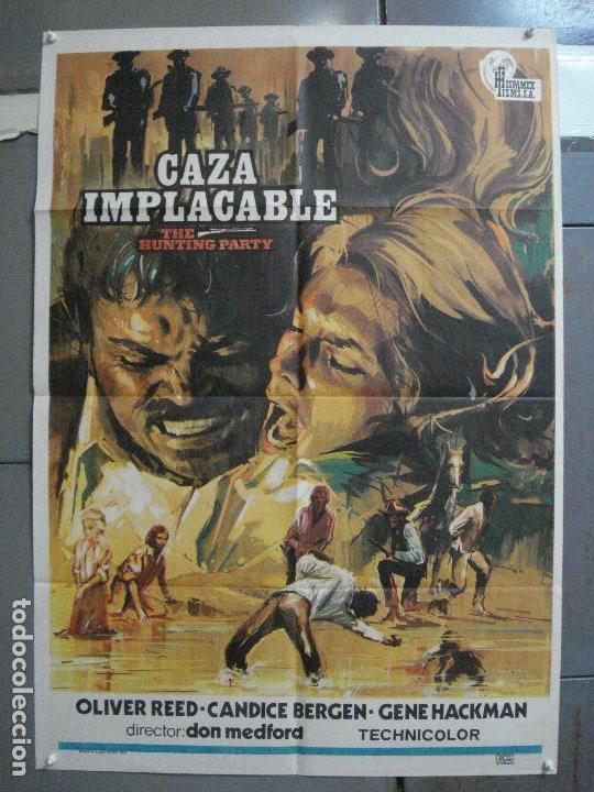 CDO 3734 CAZA IMPLACABLE CANDICE BERGEN GENE HACKMAN OLIVER REED POSTER ORIGINAL 70X100 ESTRENO (Cine - Posters y Carteles - Aventura)