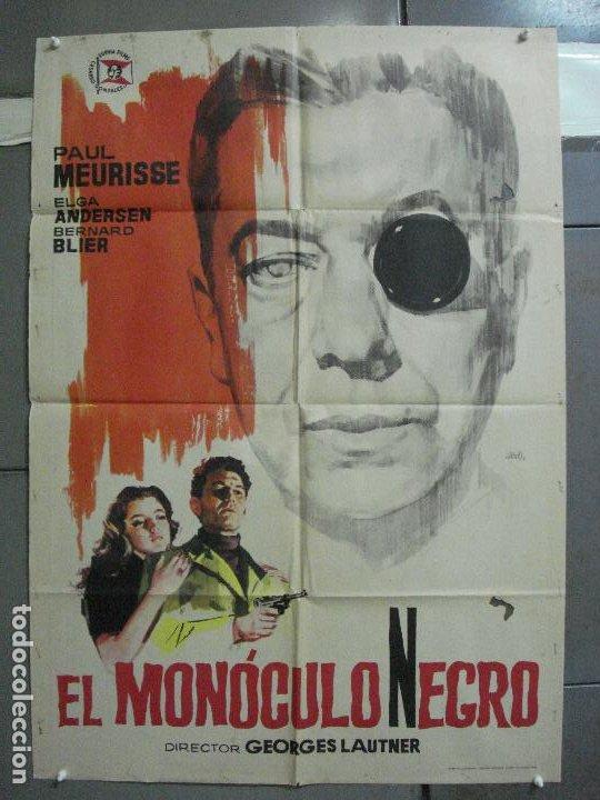 CDO 3735 EL MONOCULO NEGRO PAUL MEURISSE JANO POSTER ORIGINAL 70X100 ESTRENO (Cine - Posters y Carteles - Suspense)