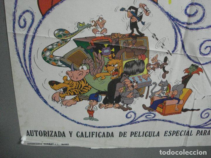 Cine: CDO 3753 EL ARMARIO DEL TIEMPO MORTADELO Y FILEMON IBAÑEZ POSTER ORIGINAL 70X100 ESTRENO - Foto 5 - 210304346