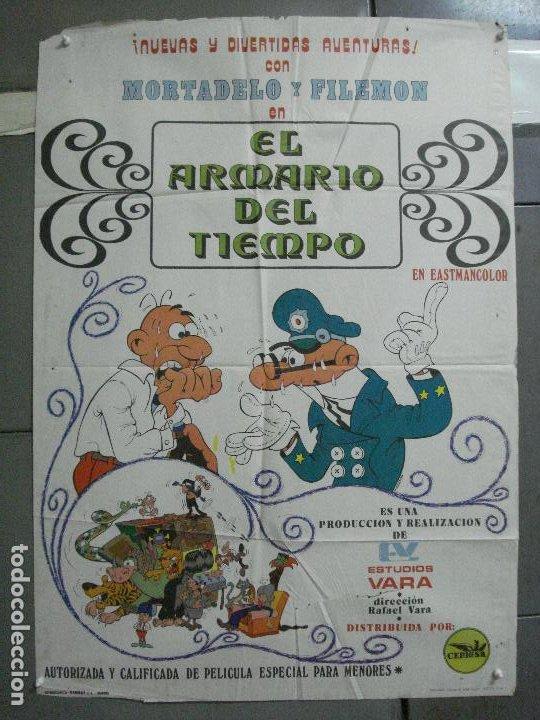 CDO 3753 EL ARMARIO DEL TIEMPO MORTADELO Y FILEMON IBAÑEZ POSTER ORIGINAL 70X100 ESTRENO (Cine - Posters y Carteles - Infantil)