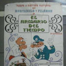 Cine: CDO 3753 EL ARMARIO DEL TIEMPO MORTADELO Y FILEMON IBAÑEZ POSTER ORIGINAL 70X100 ESTRENO. Lote 210304346