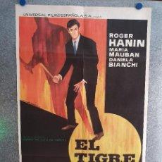 Cine: EL TIGRE. ROGER HANIN, MARGARET LEE, MICHEL BOUQUET. AÑO 1965. POSTER ORIGINAL. Lote 210312121