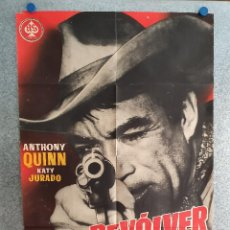 Cine: UN REVÓLVER SOLITARIO. ANTHONY QUINN, KATY JURADO. AÑO 1965. POSTER ORIGINAL. Lote 210312323