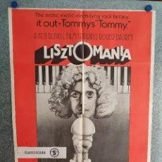 Cine: LISZTOMANIA. ROGER DALTREY, SARA KESTELMAN, PAUL NICHOLAS, RINGO STARR. AÑO 1978. POSTER ORIGINAL. Lote 210312618