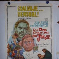 Cine: LAS DOS CARAS DEL DR. JEKYLL - LITOGRAFICO - 110 X 80. Lote 210543175