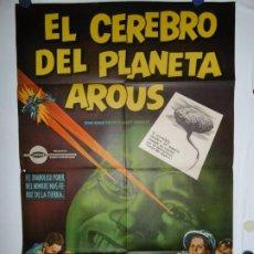 Cine: EL CEREBRO DEL PLANETA AROUS - LITOGRAFICO - 110 X 80. Lote 210543263