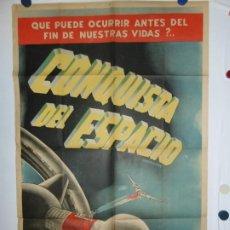 Cine: LA CONQUISTA DEL ESPACIO - LITOGRAFICO - 110 X 80. Lote 210543287
