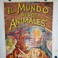 Cine: EL MUNDO DE LOS ANIMALES - LITOGRAFICO - 110 X 80. Lote 210543342