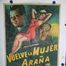 Cine: VUELVE LA MUJER ARAÑA - LITOGRAFICO - 110 X 80. Lote 210543671