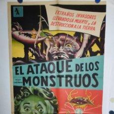Cine: EL ATAQUE DE LOS MONSTRUOS - LITOGRAFICO - 110 X 80. Lote 210543700