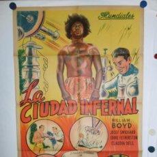 Cine: LA CIUDAD INFERNAL - LITOGRAFICO - 110 X 80. Lote 210543741