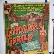 Cine: LA NOVIA DEL GORILA - LITOGRAFICO - 110 X 80. Lote 210543762