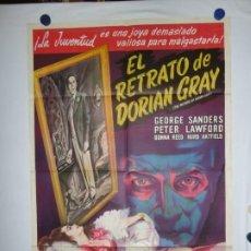 Cine: EL RETRATO DE DORIAN GRAY - LITOGRAFICO - 110 X 80. Lote 210543792