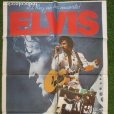 Cine: CARTEL CINE + 12 FOTOCROMOS ELVIS ¡EL REY NO HA MUERTO! KURT RUSSELL 1979 CCF88. Lote 210579397