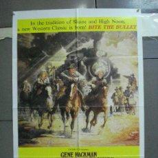 Cine: CDO 3786 MUERDE LA BALA RICHARD BROOKS GENE HACKMAN JAMES COBURN POSTER ORIGINAL USA 70X105. Lote 210586445