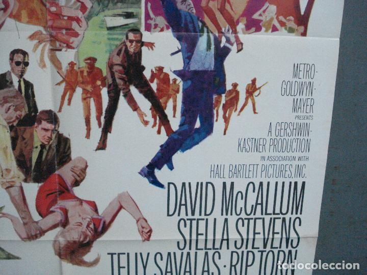 Cine: CDO 3789 LA ESPALDA CONTRA EL MURO DAVID McCALLUM TELLY SAVALAS POSTER ORIGINAL USA 70X105 - Foto 8 - 210589700