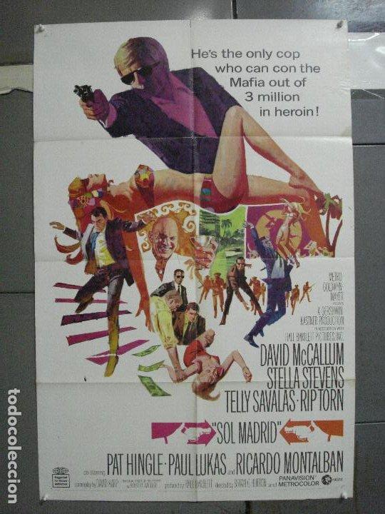 CDO 3789 LA ESPALDA CONTRA EL MURO DAVID MCCALLUM TELLY SAVALAS POSTER ORIGINAL USA 70X105 (Cine - Posters y Carteles - Acción)