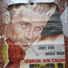 Cine: REBELDE SIN CAUSA.-JAMES DEAN.-NATALIE WOOD.-CARTEL INCOMPLETO.-CINE.-MEDIDAS DE 94 X 67 CM.. Lote 210617693