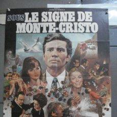 Cine: CDO 3798 BAJO EL SIGNO DE MONTE CRISTO PAUL BARGE POSTER ORIGINAL 60X80 FRANCES. Lote 210647613