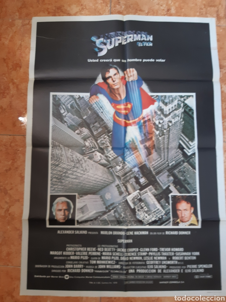 CARTEL PELÍCULA SUPERMAN DEL AÑO 1979 CHRISTOPHER REEVE MARLON BRANDO (Cine- Posters y Carteles - Drama)
