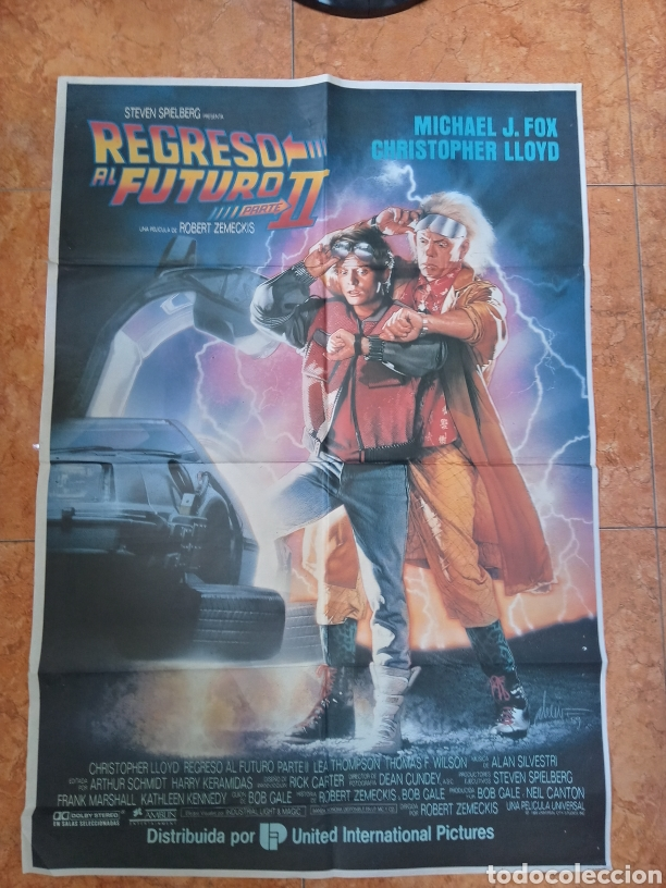 CARTEL PELÍCULA REGRESO AL FUTURO 2 DEL AÑO 1989 MICHAEL J FOX BACK TO THE FUTURE (Cine- Posters y Carteles - Drama)