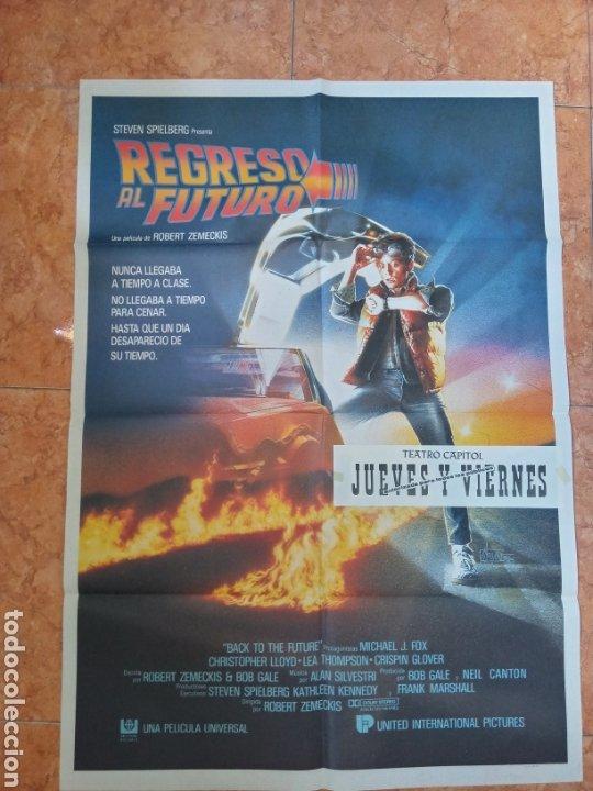 CARTEL PELÍCULA REGRESO AL FUTURO DEL AÑO 1985 MICHAEL J FOX BACK TO THE FUTURE (Cine- Posters y Carteles - Drama)