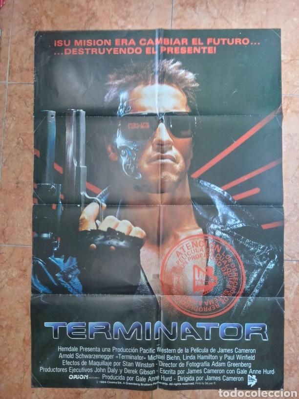 CARTEL PELÍCULA TERMINATOR AÑO 1984 SCHWARZENEGGER (Cine - Posters y Carteles - Acción)