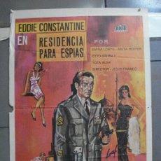 Cine: CDO 3835 RESIDENCIA PARA ESPIAS JESUS FRANCO EDDIE CONSTANTINE POSTER ORIGINAL 70X100 ESTRENO. Lote 210660742