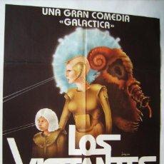 Cine: LOS VISITANTES DE LA GALAXIA, DE DUSAN VUKOTIC. POSTER 65,5 X 93 CMS. 1983. DISEÑO: JOSÉ LUIS SAURA. Lote 210710485