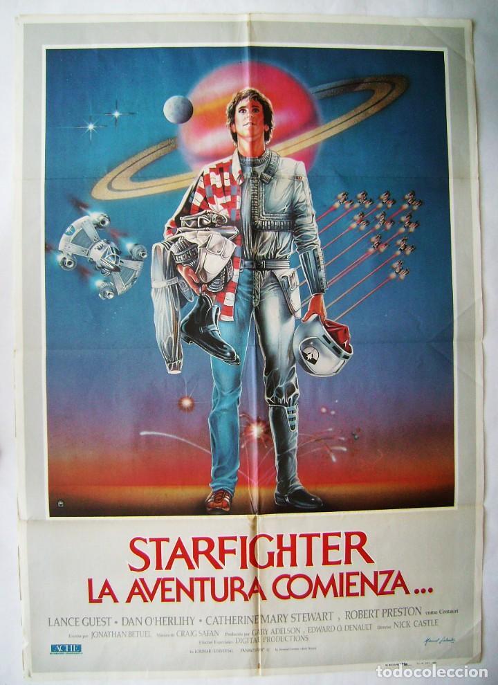 STARFIGHTER, LA AVENTURA COMIENZA, DE NICK CASTLE. POSTER 70 X 100 CMS.1985. (Cine - Posters y Carteles - Ciencia Ficción)