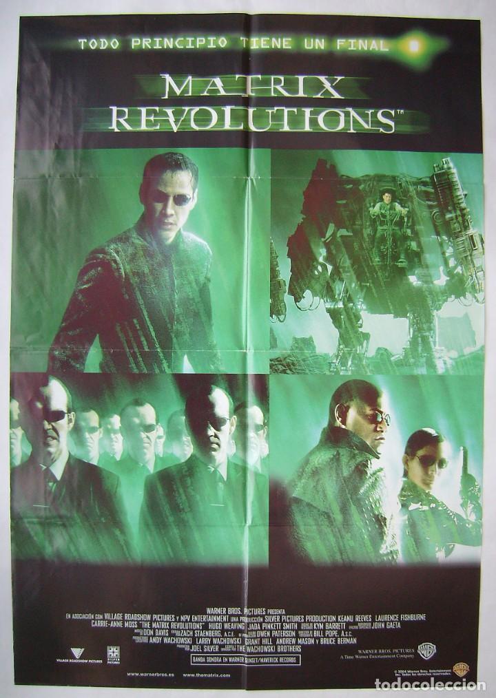 MATRIX REVOLUTIONS, CON KEANU REEVES . PÓSTER 67 X 96,5 CMS. 2004. (Cine - Posters y Carteles - Ciencia Ficción)