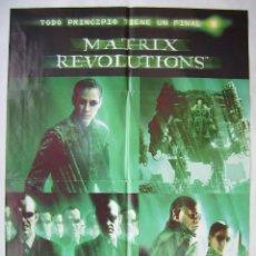 Cine: MATRIX REVOLUTIONS, CON KEANU REEVES . PÓSTER 67 X 96,5 CMS. 2004.. Lote 210714255