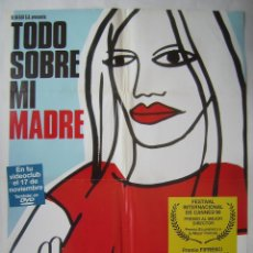 Cinema: TODO SOBRE MI MADRE, DE PEDRO ALMODÓVAR . PÓSTER DE VIDEO 68,5 X 96,5 CMS. DISEÑO: MARINÉ.. Lote 210715975