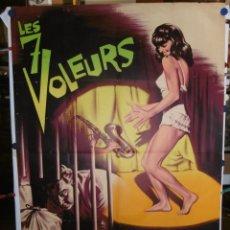 Cine: LES 7 VOLEURS - 1964 - 200 X 120 - LITOGRAFICO. Lote 210716545