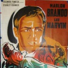 Cine: L'EQUIPEE SAUVAGE - 1953 - 200 X 120 - LITOGRAFICO. Lote 210716561