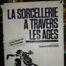 Cine: LA SORCELLERE A TRAVERS LES AGES - 1922 - 160 X 120 - LITOGRAFICO. Lote 210716767