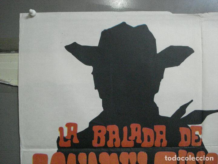 Cine: CDO 3882 LA BALADA DE JOHNNY RINGO LEX BARKER SPAGHETTI POSTER ORIGINAL 70X100 ESTRENO - Foto 2 - 210734980