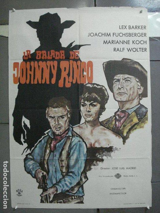 CDO 3882 LA BALADA DE JOHNNY RINGO LEX BARKER SPAGHETTI POSTER ORIGINAL 70X100 ESTRENO (Cine - Posters y Carteles - Westerns)