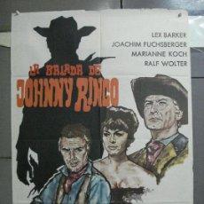 Cine: CDO 3882 LA BALADA DE JOHNNY RINGO LEX BARKER SPAGHETTI POSTER ORIGINAL 70X100 ESTRENO. Lote 210734980