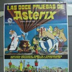 Cine: CDO 3883 LAS DOCE PRUEBAS DE ASTERIX ALBERT UDERZO RENE GOSCINNY POSTER ORIGINAL 70X100 ESTRENO. Lote 210735316